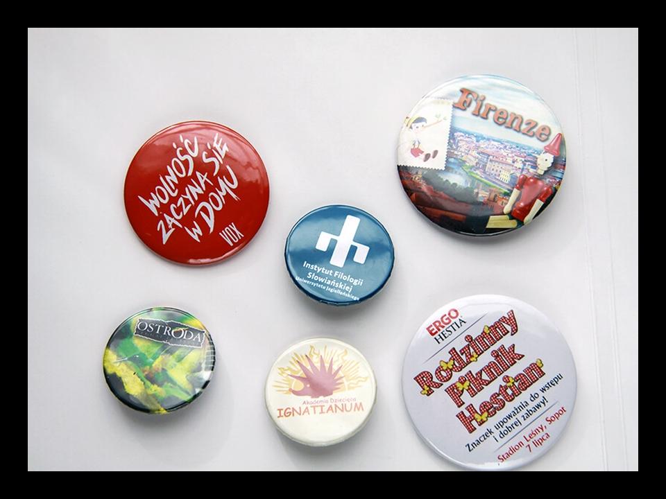 przypinki i plakietki reklamowe od Buttonfly